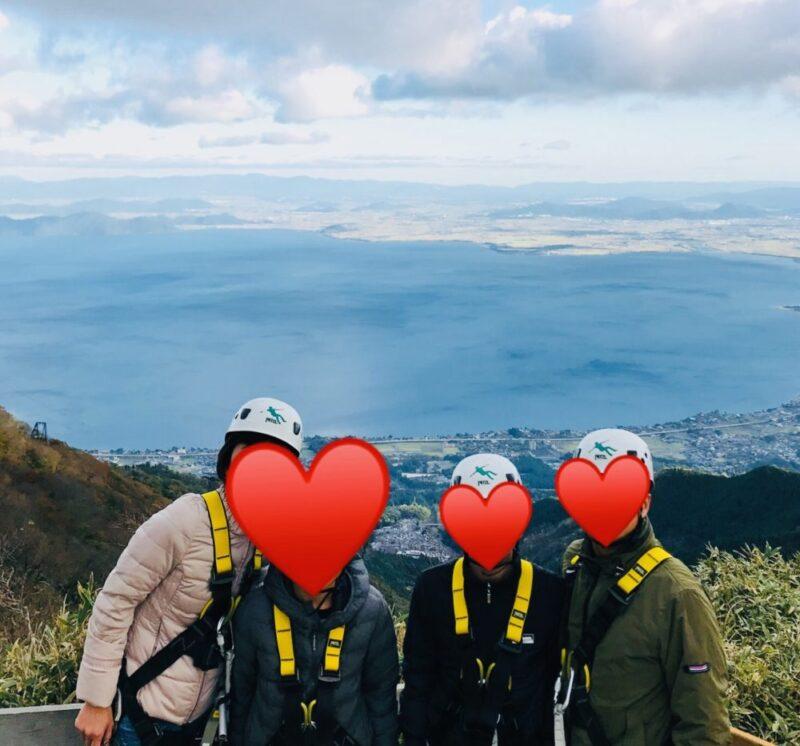 びわ湖バレイ ジップライン 琵琶湖2